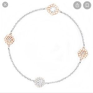Swarovski Remix Strand Two-Tone Hexagon Bracelet